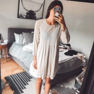 Cream Wilfred Aritzia dress
